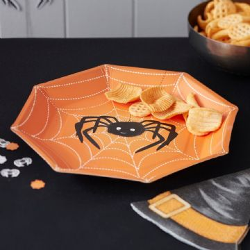 Halloween Spooky Spider Paper plates - pack of 8